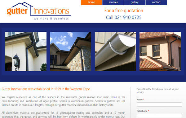 Webdesign - Gutter Innovations