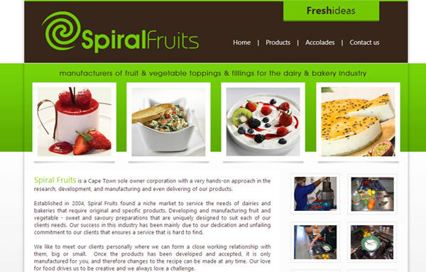 Webdesign - Spiral Fruits