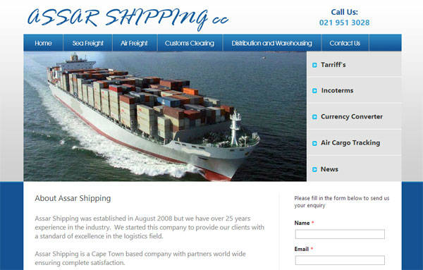 Affordable webdesign - Assar Shipping